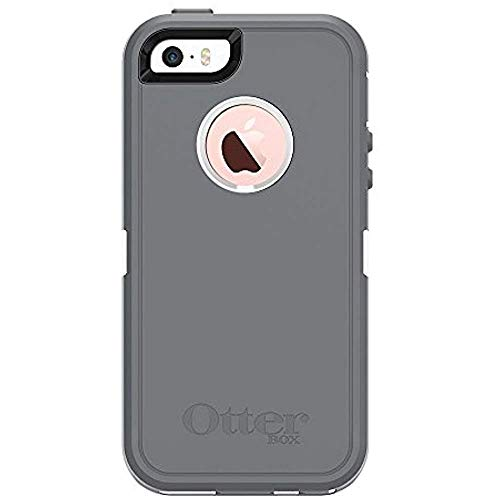 Rugged Protection OtterBox Defender Case for iPhone 5, 5S and SE Case Only - Bulk Packaging - Glacier (White/Gunmetal Grey)