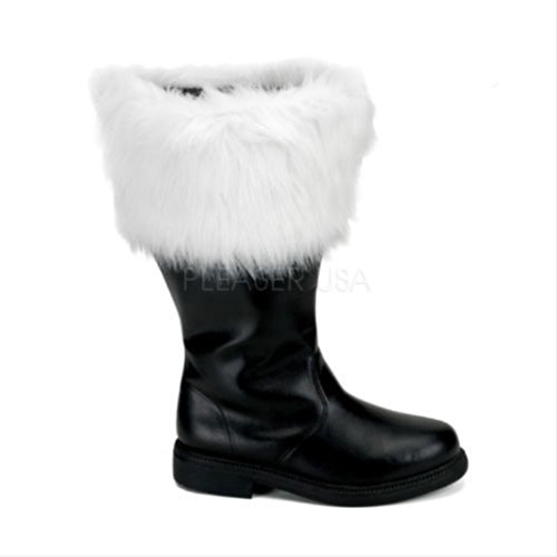 Faux Santa Combat Black Fur Funtasma PU Men's White Boot I0PqIE5xw