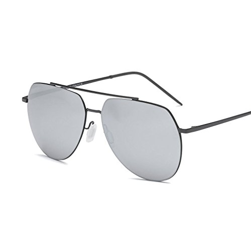 Sol y Gafas Water Gafas Femenino Cómodo de Anti de de Water Ultravioleta de Moda luz Metal Color Espejo Conducción Silver polarizada Libre al Sol Masculino de Aire Viaje Silver CqpxpwYUI