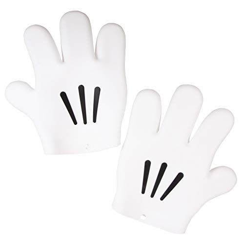 Disney Mickey Mouse Hand Oven Glove Set - Silicone - Heat-Resistant, Food Safe - Right and Left Hand Pair - Oven Glove Set
