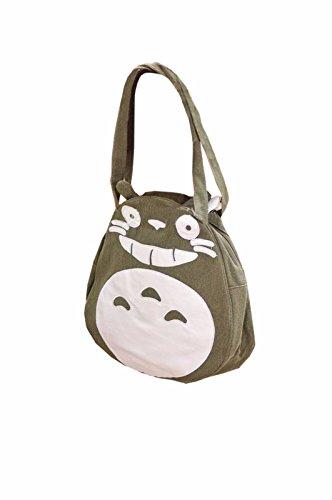 rare Schultertasche Tasche Shoulder Bag Rucksack reisetaschen Katze Grün totoro new