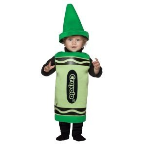 Outrageous Baby Costumes (Crayola Crayon Baby Infant Costume Green - Infant Large)