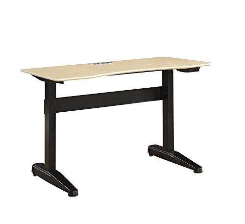 HOMES: Inside + Out L Idf-DK6092BK-L Agate Adjustable Height Desk, Large, Black by HOMES: Inside + Out