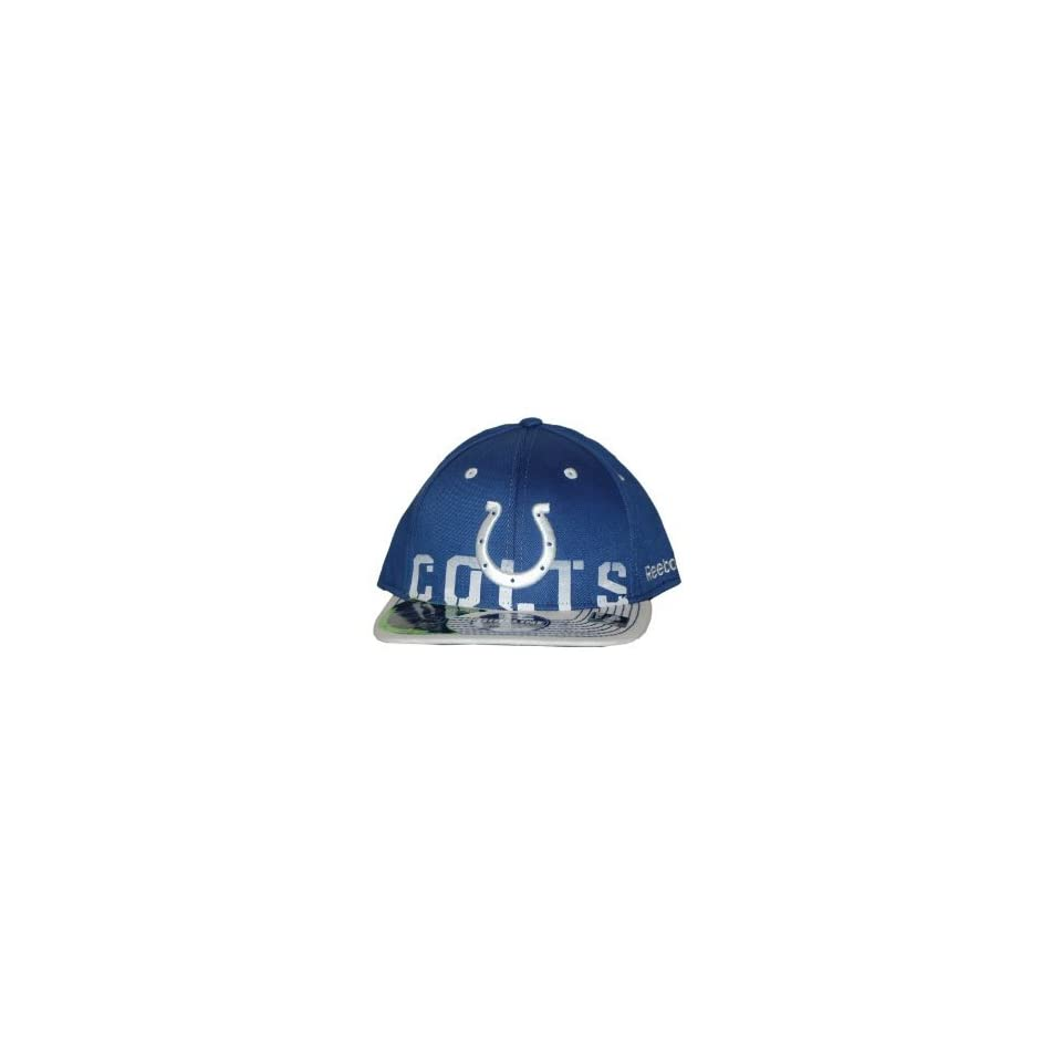 NFL Indianapolis Colts Reebok Official Sideline Fitted Hat Cap L/XL