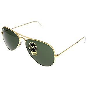 Ray Ban Sunglasses Aviator Gold Unisex RB3025 L0205