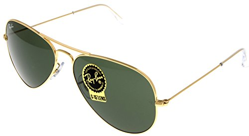 Ray Ban Sunglasses Aviator Gold Unisex RB3025 - Ray L0205 58 Ban Rb3025
