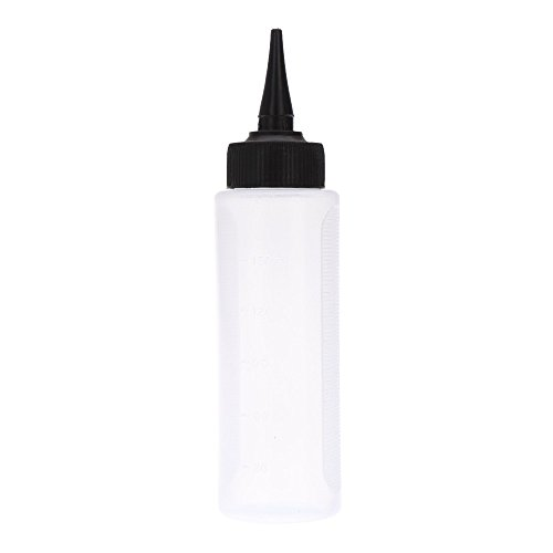 150ml Plastic Bottle with Twist Caps Squeeze Scale Home Use or Salon Hair Dry Cleaning Washing Pot
