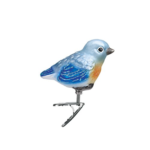 Old World Christmas Ornaments: Baby Bluebird Glass Blown Ornaments for Christmas Tree