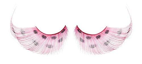 Zinkcolor Pink Polka Dots False Synthetic Eyelashes W592 Dance Halloween Costume