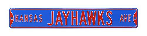 Authentic Street Signs 70003 Kansas Jayhawks Ave, Heavy Duty, Steel Street Sign, 36
