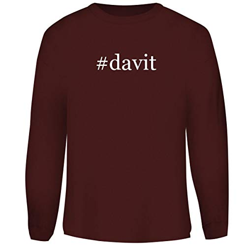 One Legging it Around #Davit - Hashtag Men's Funny Soft Adult Crewneck Sweasthirt, Maroon, Small
