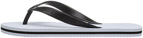 A|X Armani Exchange Men's Solid Flip-Flop, White, 9 Medium US