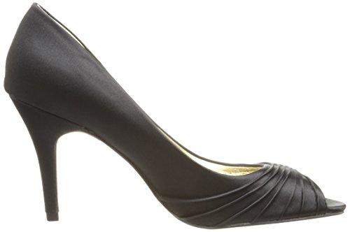 Papell Womens Adrianna Farrel Papell Adrianna Satin Black Pump Womens Dress Farrel waUI7w