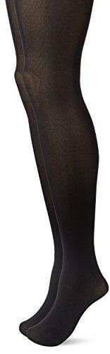 Calvin Klein Women's Perfect Essentials Opaque Control Top Tights 2 Pair Pack, Black, B