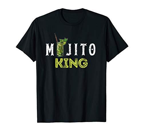 Mojito King T-Shirt Love Mojitos Drink Bartender Gifts Tee -