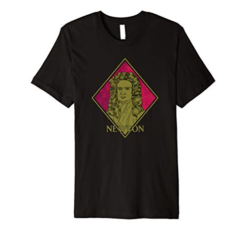 Isaac Newton Cartoon Premium T-Shirt (Isaac Newton And His Contribution To Science)