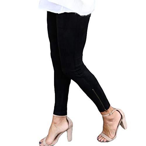 Slim Donna Pantaloni Lampo Skinny Jeans Juqilu S Cerniera Con Elasticizzato Denim Nero Stampati Fit xl A Stretch Matita qFPcpEw5Ww