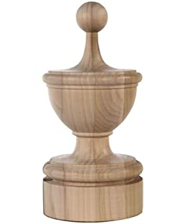 Amazoncom Staircase Round Finial Newel Post Cap Red Oak Wood