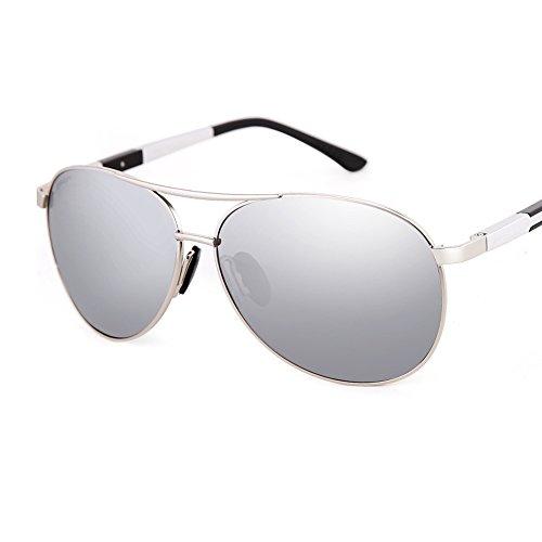en du UV Lunettes pour Hommes TESITE Aluminium Verres 100 Le PolariséS Conduisant Silver Conducteur De Miroir MagnéSium Soleil w1xggPEZq