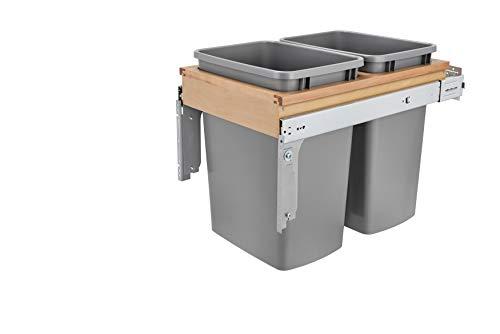 Rev-A-Shelf Dbl 35 QT Top Mount Waste Container, Quart, Natural