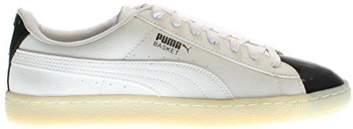 PUMA Basket Patent Mens Sneakers Puma White/Puma Black 78atf