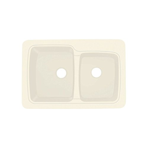 Biscuit Composite Top Mount (Transolid KDT33226-08 33in x 22in Top Mount Self-Rimming Savannah Kitchen Sink, Biscuit)