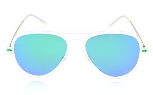 Eyekepper Flash Green Mirror Polarized Sunglasses Titanium Temple TR-90 Frame by Eyekepper (Image #1)