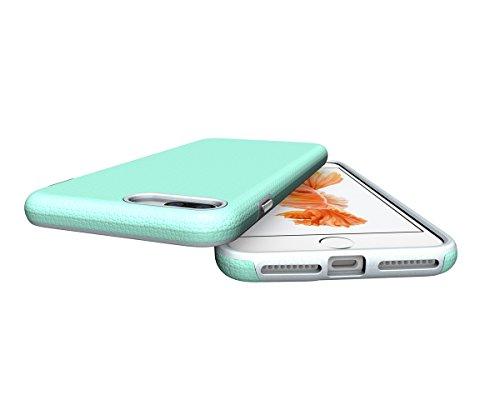 CarcasaiPhone 7 / iPhone 8, LifeePro Funda de la Caja del Teléfono a Prueba de Golpes TPU + PC Armadura Combinada híbrida Caso de Alto Impacto Durable Phone Defender (Púrpura) Verde
