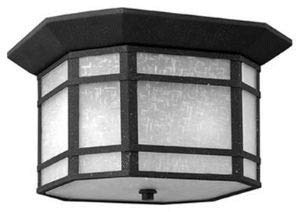 - Hinkley 1273VK Craftsman/Mission Two Light Flush Mount from Cherry Creek collection in Blackfinish,