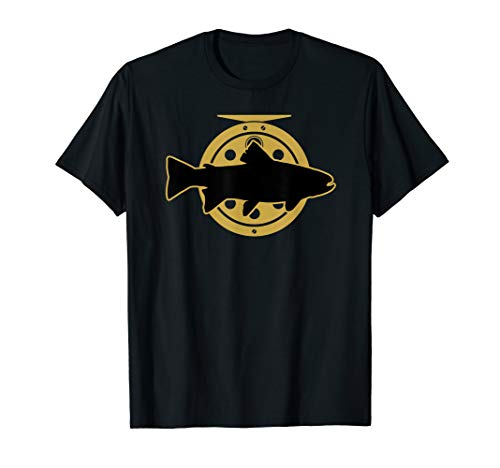 Trout Fishing Fly Brook - Brook Trout Fly Fishing Shirt with Fly Reel Fisherman Gift T