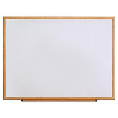 Dry Erase Board, Melamine, 48 x 36, Oak Frame, Sold as 1 Each