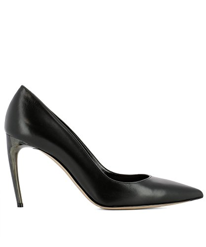 Alexander McQueen Women's 493447Whmu01000 Black Leather Pumps