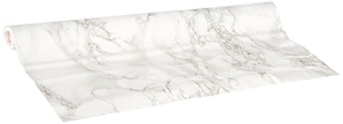 Ideal Standard White - d-c-fix 346-0306 Decorative Self-Adhesive Film, Grey Marble, 17.71