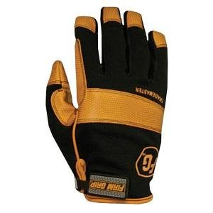 Firm Grip Gloves (Firm Grip Large Trade Master Mesh-Net Fabric and Leather Work Gloves)