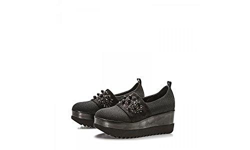 LORENZO MARI Women's Loafer Flats Black hBqMyo4E