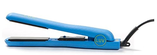 LUV Hair Professional Styling Flat Iron (Dazzling Baby Blue)