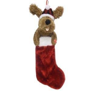 Animated Singing Puppy Dog Christmas Stocking
