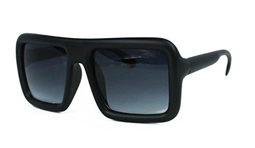 Oversized Square Hipster Thick Frame Unisex Rectangular Sunglasses (Matte - Thick Glasses Hipster