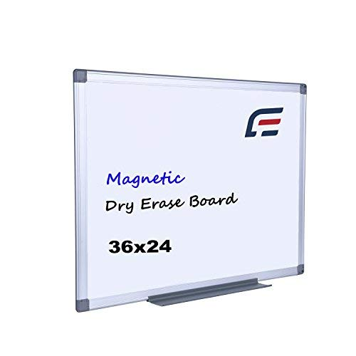 EFIRNITURE Magnetic Dry Erase Board, 36x24 inch Whiteboard Aluminum Frame Wall Mounted with Removable Marker Tray, Perfect for Home Office School by EFIRNITURE
