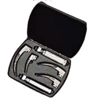 Welch Allyn 69696 Macintosh Fiber Optic Blade Complete Set for Laryngoscope, Medium and Small Handles, 05691 Case