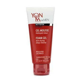 Yonka Men Foam Gel, 3.4 Fluid Ounce