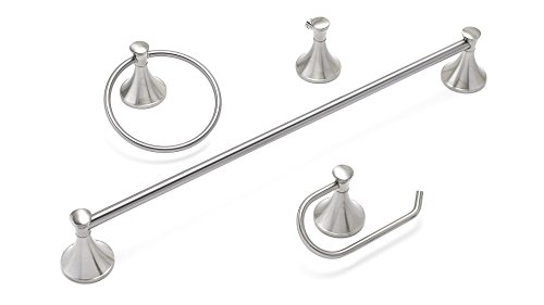 Richelieu Hardware - 35449 - Pack of 4 units - Value Pack - Palermo Collection - Brushed Nickel  Finish