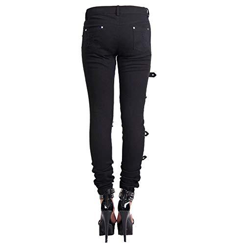 Agujero Tamanos Ajuste Pantalones Fashion Devil Gothic Leggings Vaqueros Delgado Hebillas 7 Mujeres Con Pantalones Steampunk El¨¢sticos aRYqZcqwg