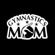 Gymnastics Mom Gymnast Sports Vinyl Decal Sticker|WHITE|Cars Trucks Vans SUV Laptops Wall Art|5.5