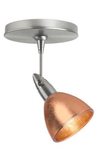 Besa Lighting 1SP-1758CF-LED6-BR 1X6W LED MR16 Divi Spotlight with Copper Foil Glass, Bronze Finish (Foil Copper Divi)