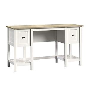 """Sauder Cottage Road Desk, L: 53.937"""" x W: 19.449"""" x H: 29.764"""", Soft White Finish"""