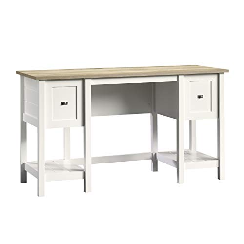 "Sauder 418072 Cottage Road Desk, L: 53.94"" x W: 19.45"" x H: 29.76"", Soft White finish"