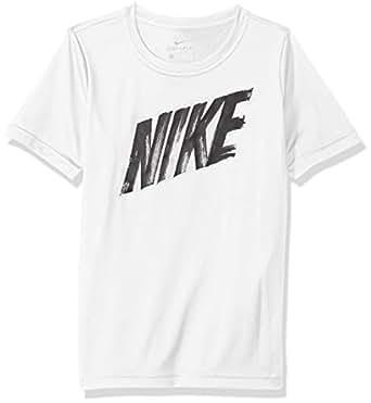 Nike Boy's DRY SS T-Shirt, White Size Medium (NKAQ9554)