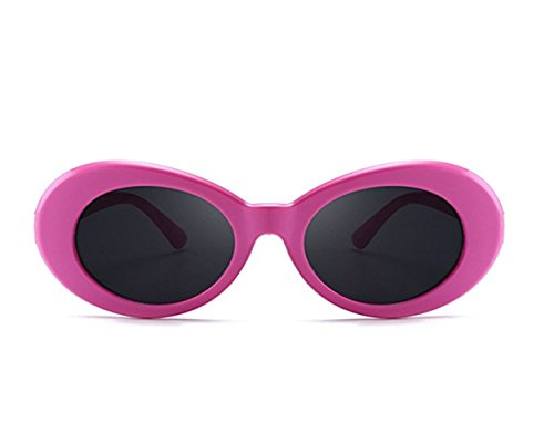 Lentes FOURCHEN sol sol clout Oval para Gafas Bold Pink hombre Black Gafas gruesa Retro con montura Mod redondas Gafas de de mujer arqWAaFH
