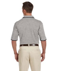 S White//Navy Product of Brand Harriton Adult 6 oz Short-Sleeve Piqu/é Polo Shirt with Tipping